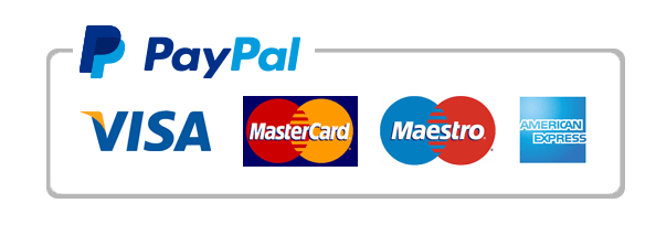 We accept PayPal and Credit cards